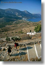 amorgos, down, europe, greece, hiking, stairs, vertical, walking, photograph