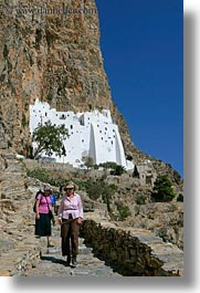 amorgos, cliffs, europe, greece, hiking, hozoviotissa monastery, monastery, mountains, nature, vertical, white wash, photograph