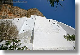 amorgos, cliffs, europe, greece, horizontal, hozoviotissa monastery, monatery, mountains, nature, white wash, photograph
