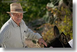 amorgos, europe, greece, hats, horizontal, men, old, people, photograph