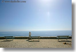amorgos, benches, europe, greece, horizontal, ocean, people, scenics, photograph