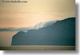 amorgos, cliffs, europe, fog, greece, horizontal, over, scenics, photograph