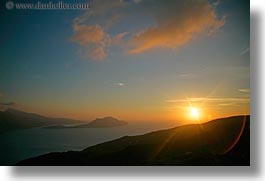 amorgos, clouds, europe, greece, hills, horizontal, scenics, sunsets, photograph