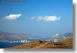 amorgos, bay, europe, greece, horizontal, mountains, scenics, photograph