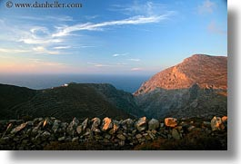 amorgos, europe, greece, horizontal, mountains, rocks, scenics, sky, photograph