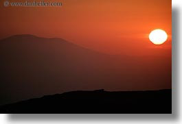 amorgos, europe, greece, hills, horizontal, scenics, sunsets, photograph