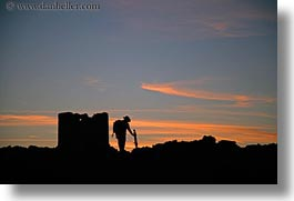 amorgos, europe, greece, horizontal, photographers, scenics, silhouettes, sunsets, photograph