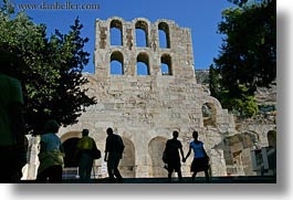 acropolis, arches, athens, europe, greece, high, horizontal, people, windows, photograph