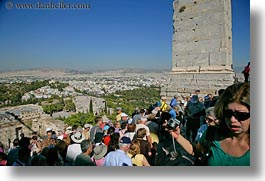 acropolis, athens, buildings, cityscapes, crowds, europe, greece, horizontal, structures, tourists, photograph
