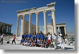 acropolis, athens, erectheion, europe, greece, horizontal, soccer, team, photograph