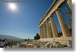 acropolis, athens, europe, greece, horizontal, nature, parthenon, sky, sun, photograph