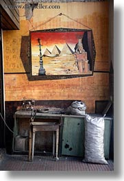 arts, athens, egyptian, europe, greece, old, posters, pyramids, vertical, workbench, photograph