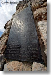 arts, athens, europe, greece, greek, historical, plaques, vertical, photograph