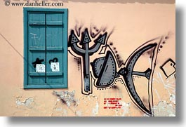 arts, athens, europe, graffiti, greece, green, grey, horizontal, shutters, photograph