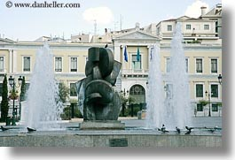 arts, athens, europe, fountains, greece, horizontal, modern, sculptures, photograph