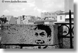 arts, athens, black and white, europe, greece, horizontal, political, stencil, photograph