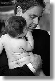 athens, babies, baptism, black and white, europe, fathers, greece, vertical, photograph
