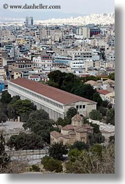 agora, athens, buildings, europe, greece, vertical, photograph