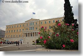 athens, buildings, europe, flowers, greece, horizontal, parliament, photograph