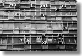 athens, black and white, buildings, europe, greece, horizontal, sex shop, signs, windows, photograph