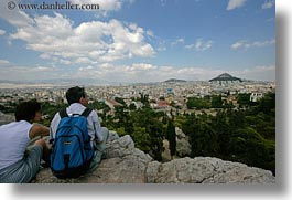 athens, cityscapes, clouds, couples, europe, greece, horizontal, nature, sky, viewing, photograph