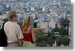 athens, cityscapes, couples, europe, greece, horizontal, viewing, photograph