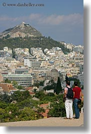 athens, cityscapes, europe, greece, men, two, vertical, viewing, photograph