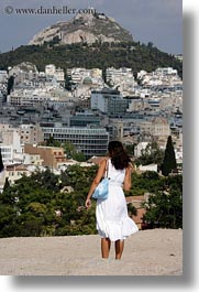 athens, cityscapes, dresses, europe, greece, vertical, white, womens, photograph