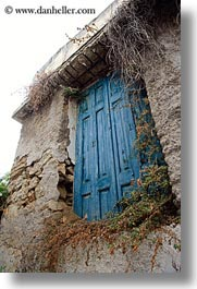 athens, blues, doors, europe, greece, old, vertical, woods, photograph