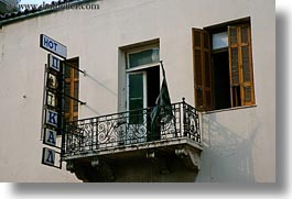 athens, balconies, europe, greece, horizontal, hotels, old, photograph