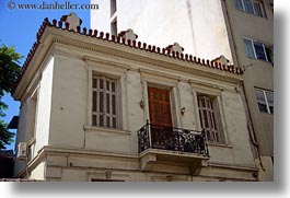 athens, balconies, doors, europe, greece, horizontal, red, photograph