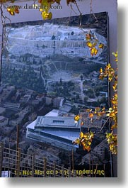 acropolis, athens, europe, greece, leaves, posters, vertical, photograph
