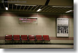 athens, destroy athens, europe, greece, horizontal, signs, subway, photograph