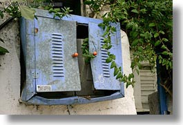 athens, boxes, electrical, europe, greece, horizontal, old, vines, photograph