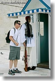 asian, athens, europe, greece, greek, guards, people, tourists, vertical, photograph