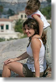 athens, emotions, europe, greece, happy, mothers, people, sons, vertical, photograph