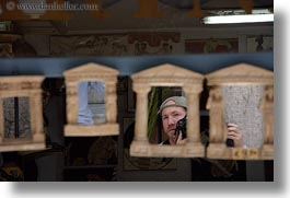 athens, europe, greece, greek, horizontal, mirrors, people, portraits, reflections, self, photograph