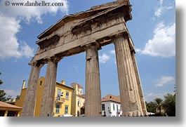 agora, architectural ruins, athens, clouds, europe, gates, greece, horizontal, nature, sky, photograph