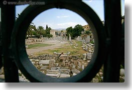 agora, architectural ruins, athens, europe, greece, horizontal, photograph