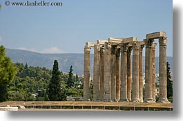 architectural ruins, athens, europe, greece, horizontal, pillars, photograph