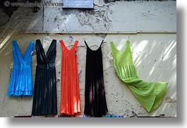 athens, colorful, dresses, europe, greece, horizontal, shops, walls, photograph