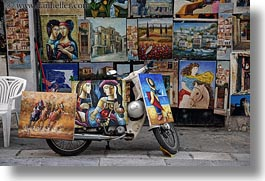 athens, europe, greece, horizontal, paintings, shops, photograph