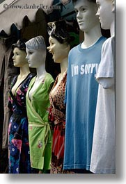 athens, emotions, europe, greece, laugh, mannequins, shirts, shops, vertical, photograph