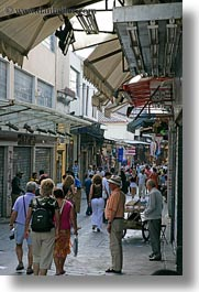 athens, busy, crowds, europe, greece, pedestrians, people, streets, vertical, photograph