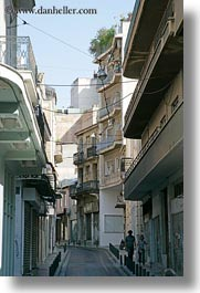 apartments, athens, blocks, europe, greece, large, streets, vertical, photograph