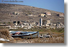 architectural ruins, boats, europe, greece, horizontal, mykonos, photograph