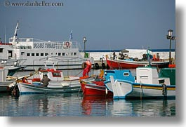 boats, europe, greece, harbor, horizontal, mykonos, photograph
