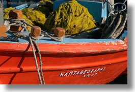 boats, closeup, europe, greece, horizontal, mykonos, oranges, photograph