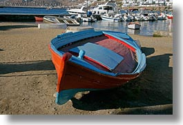 beaches, blues, boats, europe, greece, horizontal, mykonos, oranges, photograph