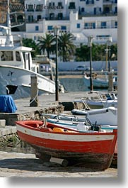 boats, europe, greece, mykonos, piers, red, vertical, photograph